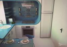 Вариант дизайна кухни-конструктора