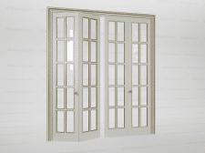 Дверь двойная классическая складывающаяся