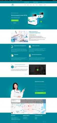 Wordpress. Сайт-визитка клиники многоязычная