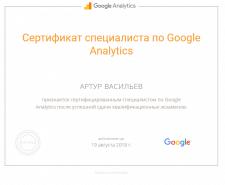 Сертификат специалиста Google Analytics