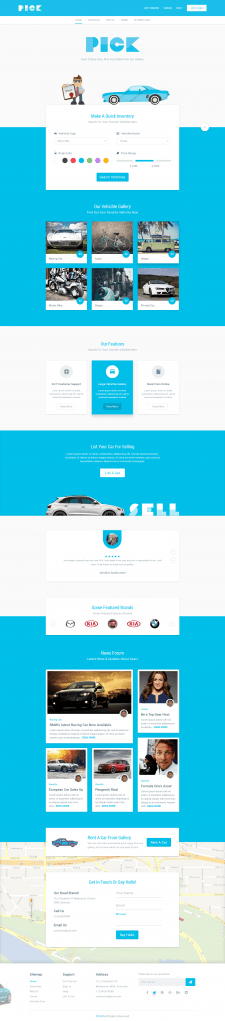 Pick - Rent or Buy Cars (Landing page)