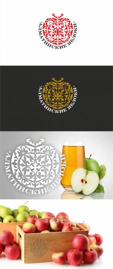 "Логотип ""Алматинские яблоки""(на конкурс)"