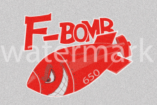 F-BomB наклейка на бак мотоцикла 2variant