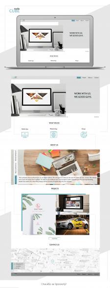 Сайт-портфолио для студии дизайна