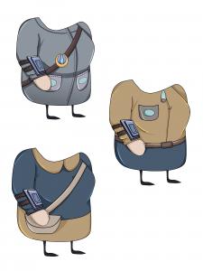 Тела-одежда для персонажа девушки