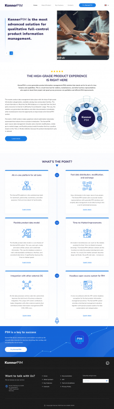 Корпоративный сайт для немецкой компании KennerPim