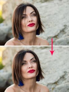 Удаление локона волос с лица