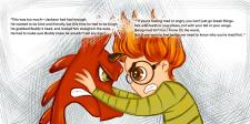 Иллюстрация на разворот книги