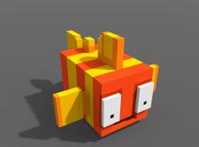 3D pixel art.