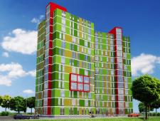 Эскизный проект многоэтажного жилого дома