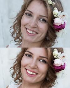 Ретушь и цветокоррекция свадебного фото