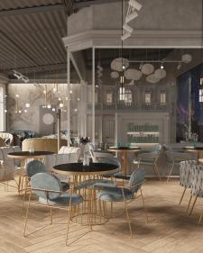 Дизайн проект ресторана,3Д визуализация