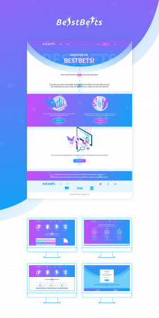 Logo and UI design for site BestBets
