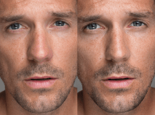 Обработка мужского портрета