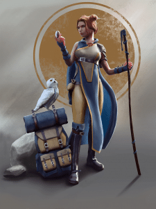Персонаж путешественницы