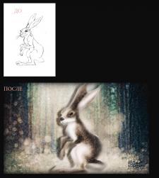 Мультяшный заяц