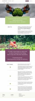 Сайт для стартапа AgriDonor