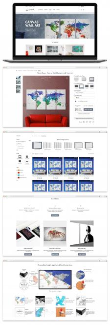 Дизайн и проработка юзабилити для магазина холстов