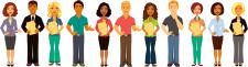 Люди с файлами. Иллюстрации для онлайн- школы англ