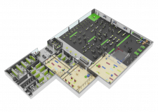 3D макет спортклуба