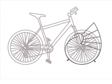 Вектор велосипед для парковки