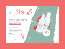 Banner for natural cosmetics