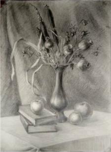 натюрморт рисунок карандашом