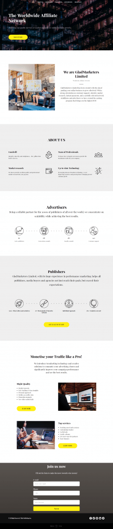 Дизайн арбитражного сайта (англ)