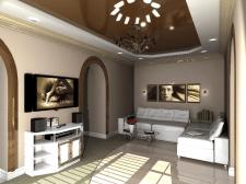 Интерьер большой комнаты