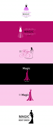 "Logo for rent dres ""MAGIC"""