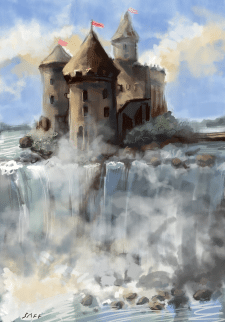 Castle on the water