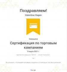 Сертификация по торговым кампаниям Google