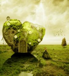 Колаж Каменное сердце