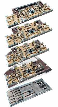 3д визуализация этажей