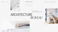 Concept of the main page of the architectural bure