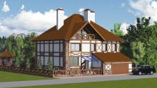 Проект частного дома. Визуализация