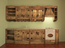проект кухни из дерева