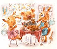 Рыжие сказки - иллюстрация для детей