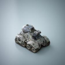 3D модель - танка для игры