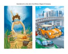 Иллюстрации к современной сказке