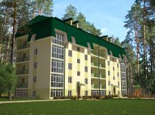 визуализация многоквартирного дома