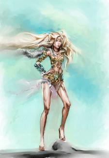 Персонаж для онлайн игры девушка викинг