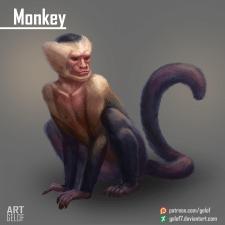 Monkey / Обезьяна