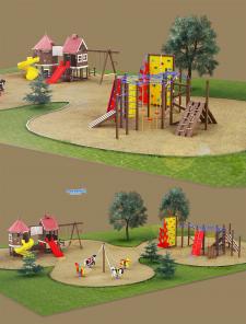 Быстрая визуализация визуализация детской площадки