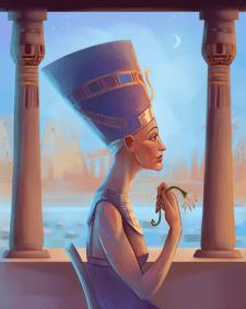 Иллюстрация Нефертити