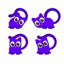 дизай, анимация и программирование кота-помощника