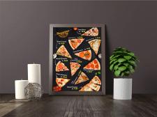 Акционный плакат для пиццерии