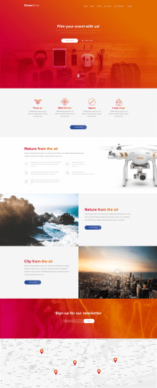 Web template for company - drones