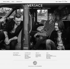Редизайн сайта Versace