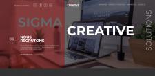 Sigma Creative - сайт для веб студії